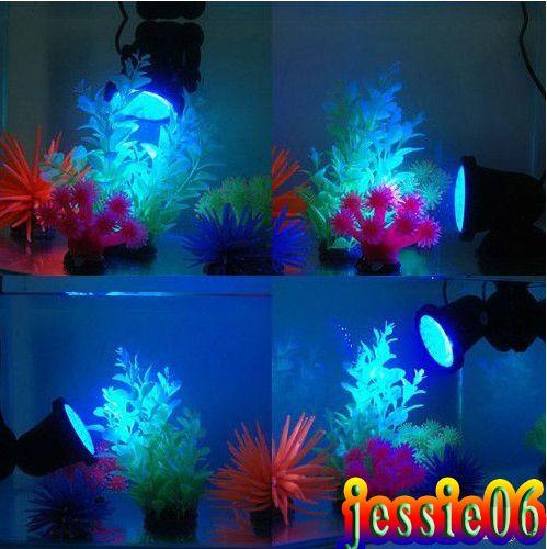 Entièrement submersible 36 Leds Spotlight Aquarium LED Aquarium Bule Fontaine Fontaine étanche Spot Light