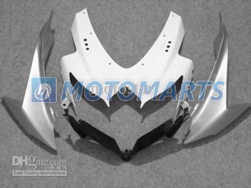 prata branca PARA suzuki 2008 2009 2010 GSXR 600 750 K8 GSXR600 08 09 10 kit de carenagem gsxr750