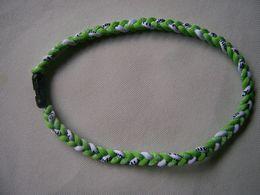 Wholesale Ge Titanium Necklaces - Wholesale -by DHL tornado Germanium & titanium ( GE ) 3 ropes tornado braided titanium neckl COLOR
