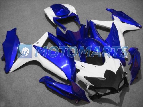 Carenagens brancas azuis para suzuki 2008 2009 2010 Kit carenagem para GSXR 600 750 K8 K9 GSXR600 08 09 10 gsxr750