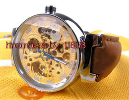 Wholesale High Quality Skeleton Watches - Leather belt Skeleton High quality Wristwatche Wholesale men watch Luxury sports Brand new Automatic Stainless steel Men's Watches