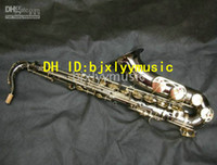 Brass carve saxophones - new Black Nickel High Antique carved Technology Tenor Saxophone