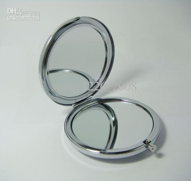 Compact Mirror Diy Portable Metal Cosmetic Mirror Silver Tone Mirror Lights  Table Mirror From Sunny1226_2008, $20.15| Dhgate.Com