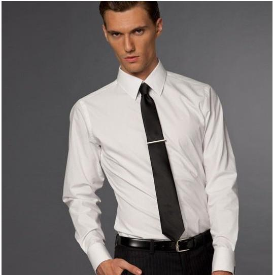 Hot sale 100 cotton men custom made wedding business for Mens formal white shirts