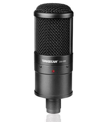 Venta caliente Takstar SM-8B dirección lateral Micrófono de grabación profesional para grabar Mic LED