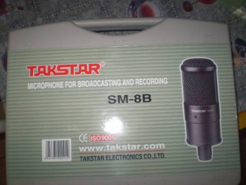 Hot Selling Takstar SM-8B Side-Address Professional Recording Microphone voor het opnemen van MIC LED