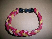 Wholesale Bracelet Germanium Dhl - Wholesale - via DHL tornado Germanium & titanium 3 ropes tornado braided titanium bracelet 18- 22CM
