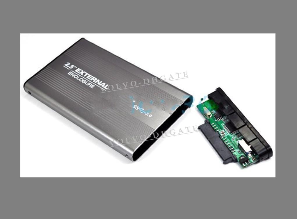475226fc2771 USB 3.0 2.5 SATA HDD Hard Drive External HDD Enclosure Case Deep Gray #1842  200pcs/lot