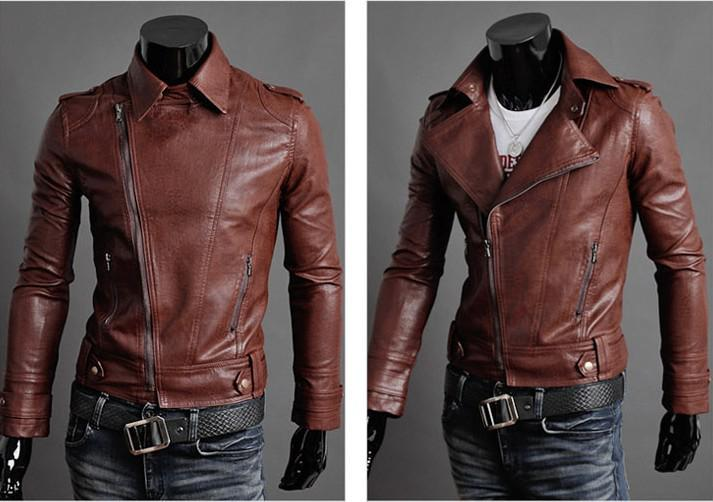 Wholesale Hot New Fashion Oblique Zipper Men'S Jacket Slim Jacket ...