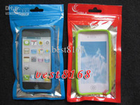 Wholesale Iphone 5c S - Colorful Zipper Plastic Retail bag Packaging poly Package for Iphone 3G 3GS 4G 4 4th 4S 5 5G 5C 5S 5 S Retail BAG cases