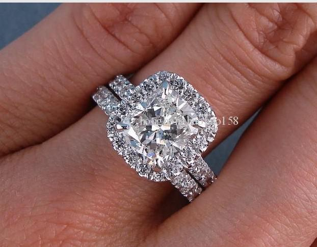 3.18 Ct Tw Cushion Cut Diamond Wedding Ring Diamond Engagement Rings  Engagement Rings For Women From Zhwshopdh, $48.19| Dhgate.Com