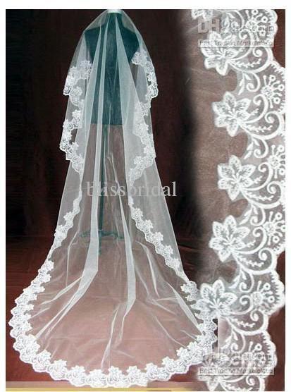 Classic White Ivory Wedding Veil 3M Long Lace Wedding Veil Wedding Accessory