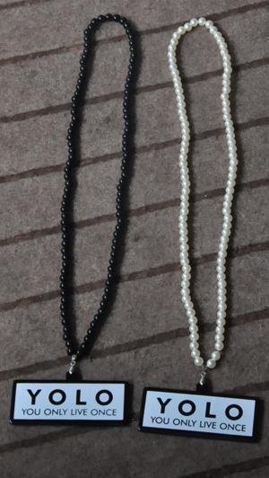 SCHLUSSVERKAUF! Feine YOLO Acrylhalskette gute Qualität nicht hölzerne Halskette Hiphop Schmucksachen Freeshipping