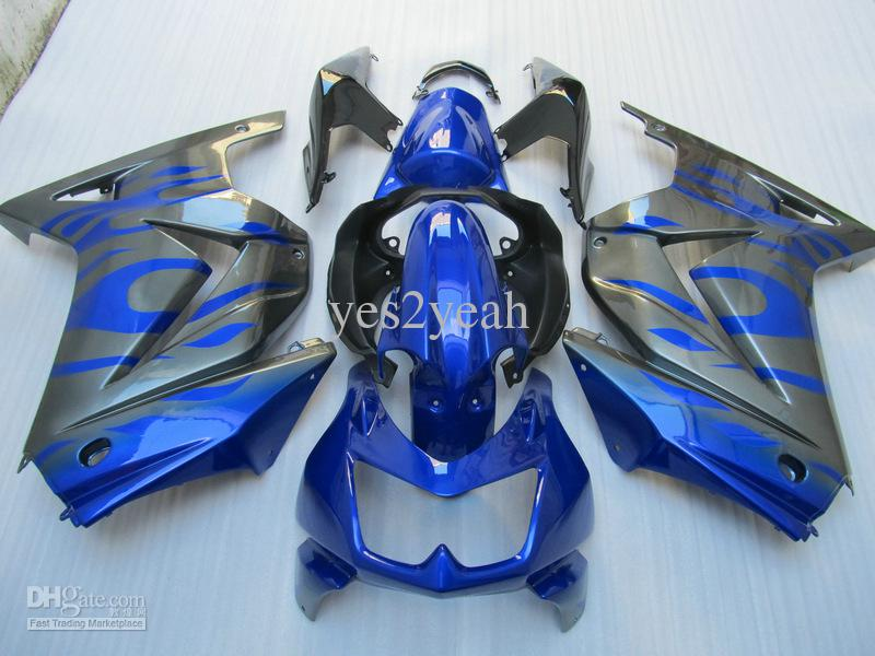 KAWASAKI Ninja ZX250R için gri Mavi Fairing Kiti ZX 250R 2008 2011 2012 EX 250 08 09 10 12 Enjeksiyon kalıbı