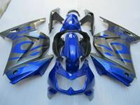 kawasaki ninja ex fairing toptan satış-KAWASAKI Ninja ZX250R için gri Mavi Fairing Kiti ZX 250R 2008 2011 2012 EX 250 08 09 10 12 Enjeksiyon kalıbı