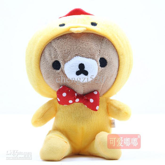 Oso de 18 cm con animal abrigo juguetes lindo nuevo juguete de peluche