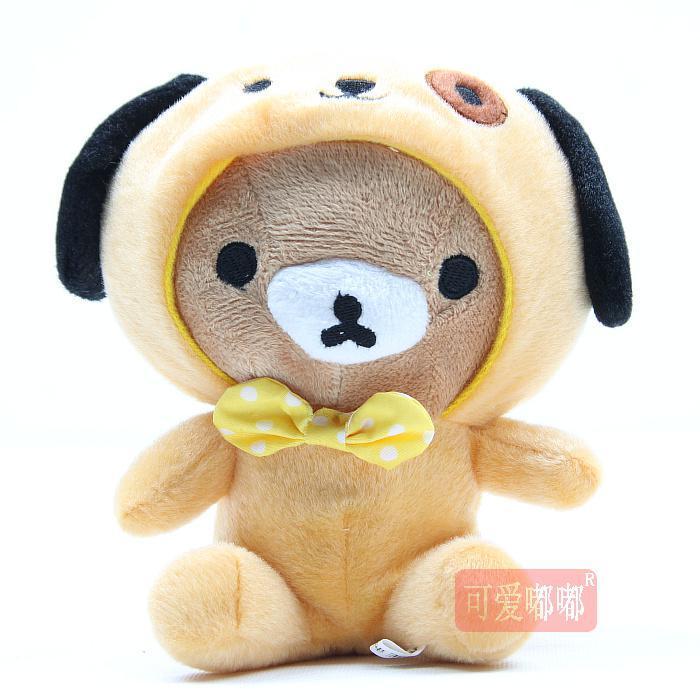 18cm 곰 착용 동물 코트 장난감 귀여운 새로운 인형 장난감