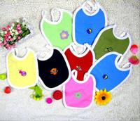 el yapımı hayvan pamuğu toptan satış-Karikatür oyuncaklar / hayvanlar 100% pamuk El Yapımı bebek tulumları / bebek pamuk önlüğü / geğirmek bezler, su geçirmez / sevimli