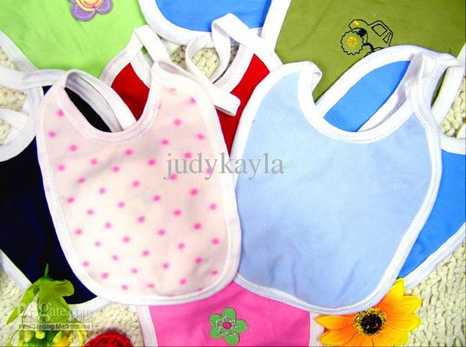 Tecknade leksaker / djur 100% bomull handgjorda småbarn / baby bomull bib / burp tyg, vattentät / söt