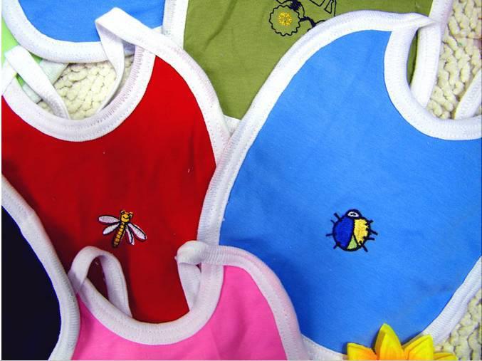 漫画のおもちゃ/動物100%コットン手作り幼児/赤ん坊の綿のビブ/肉布、防水/かわいい