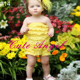 Wholesale Multi Color Petti Rompers - Sleeveless baby coverall lace ruffle romper posh petti rompers 15colors bodysuits