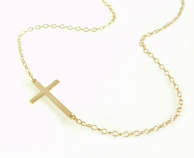 Freies Verschiffen 60pcs / lot Legierungs-horizontales seitwärts Kreuz-Halsketten-Gold- / Silber-Wahl