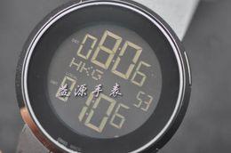 Wholesale Man Lcd Watches - Mens Black PVD LED 114 LCD Digital Digital Sport Watch Men Watches YA114207