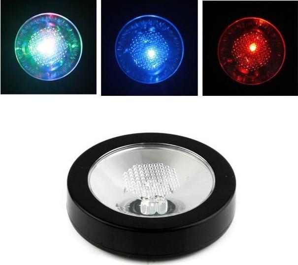20st / mycket Ny färgbyte LED Light Drink Bottle Cup Coaster Gratis frakt