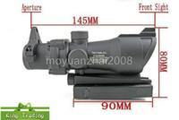 yeşil kırmızı nokta kapsamı lazeri toptan satış-Trijicon ACOG 1X32 Teleskopik Görme Kırmızı / Yeşil Nokta Lazer Sight 20mm Avcılık için Kapsam Sight Mounts