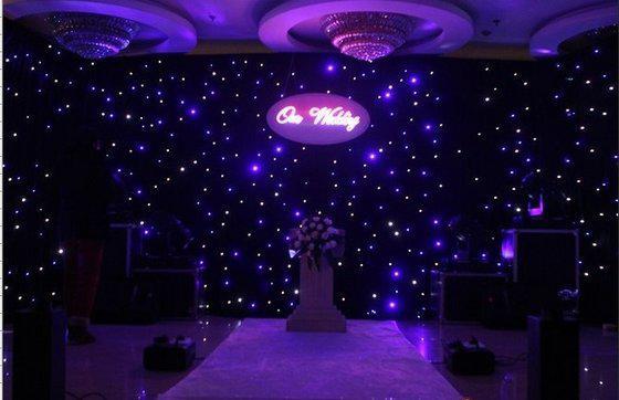 LED estrela colth led curtian estrela curtian para festa de palco fundo azul cor branca levou efeitos de luz
