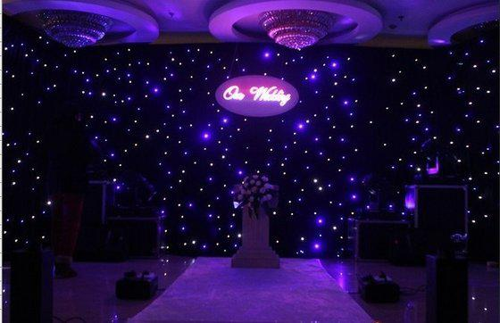 LED Star Colth LED Star Curtian voor Party Stage Achtergrond Blauw Wit Kleur LED-lichteffecten