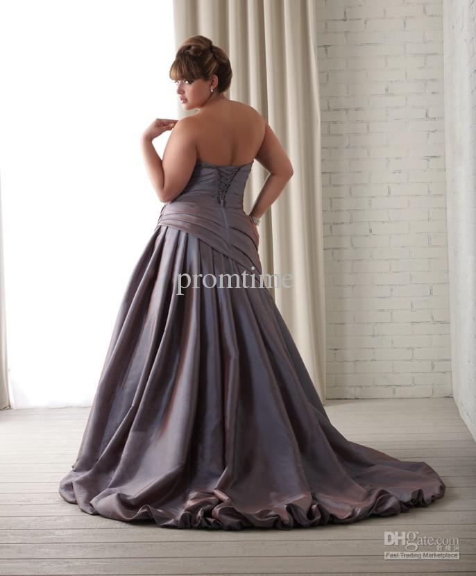 High Quality Taffeta Strapless Ruffle Color Accent Plus Size Wedding  Dresses Wedding Gowns W1123 Design Wedding Dress Famous Wedding Dress  Designers ...