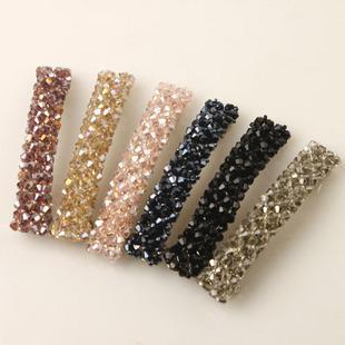 En gros New Hot coréen accessoires de cheveux pinces à cheveux en perles de cristal, clip latéral