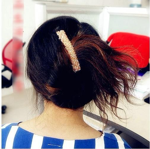 Atacado New Hot Coreano acessórios de cabelo de cristal frisado grampos de cabelo, clipe de lado