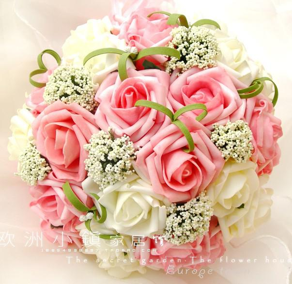 wedding favors flowers 2012 wedding favors wedding flower pink sweetheart roses 9455