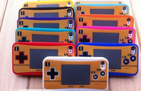 Wholesale Iphone Retro Game - Free Ship 10pcs Retro Game Console Handheld Gaming Case Cover Skin For iPhone 4 4G 4S Silicone case