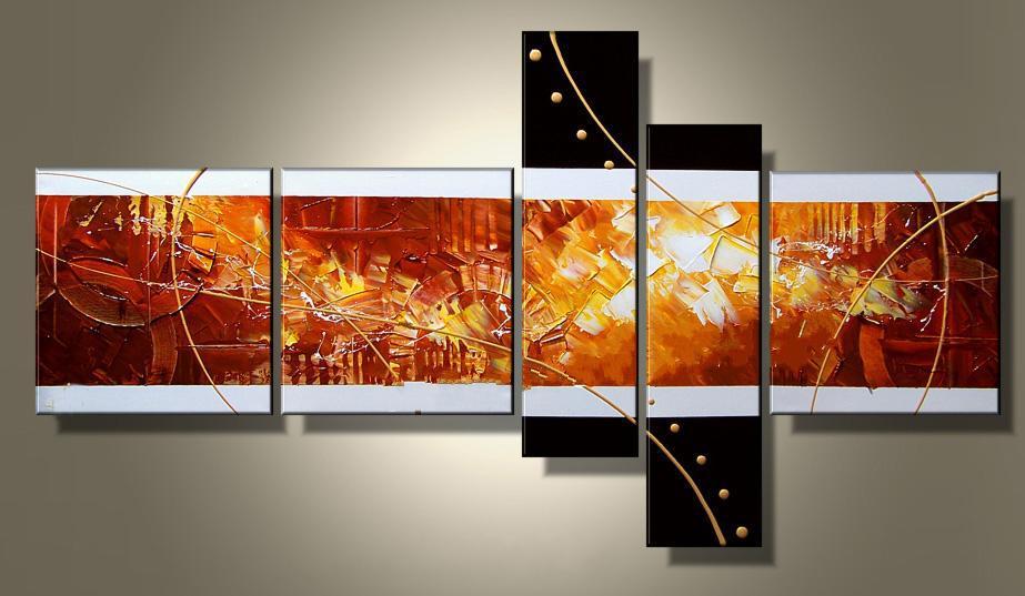 Konst Modern Oljemålning Museum Kvalitet 5 stycken Klassisk konst 100% handgjorda hantverk 2012 till salu