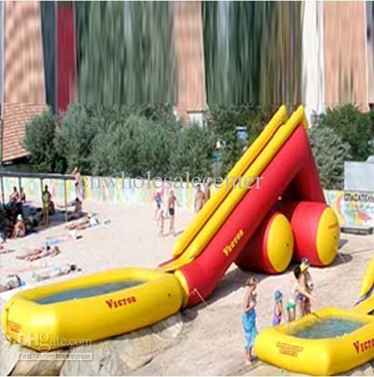 2017 fast custom new inflatable pool slide with climbing wall by express from cnwholesalecenter 341709 dhgatecom