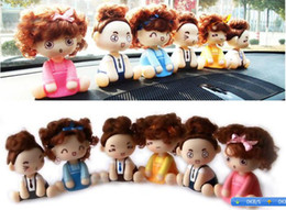 Wholesale Baby Doll Heads - Mocmoc Doll Auto Car Dashboard Head Shaking Swing Decoration Toy Dolls Baby Gift Home Decoration