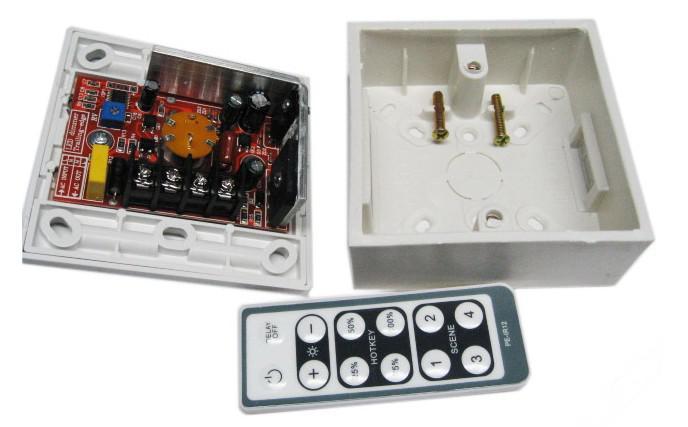 interruptor leve conduzido do dimmer, redutor de 200W 220V / 110V com controlo a distância