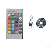 Wholesale mr16 controller resale online - 10pcs MR16 W RGB inside led driver with remote controller