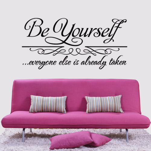Be Yourself Wall Quote Decal Sticker Decor Lettering Saying Vinyl Wall Art  Stickers Decals Wall Accents Decals Wall Accents Stickers From Jeanwill, ... Part 88