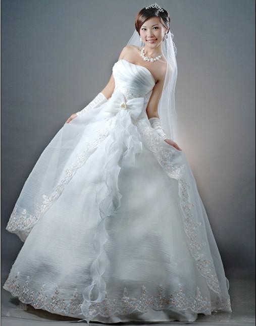 Discount 2014 New Best Selling Strapless Wedding Dresses Bridal Gown BackZipper Mermaid From Ladymm 5122