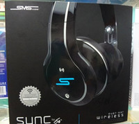 Wholesale Wireless Sync Headphones Wholesale - SMS Audio Sync by 50 Cent Over-Ear Wired Street Series Black Headphones Wireless Bluetooth 2 pieces