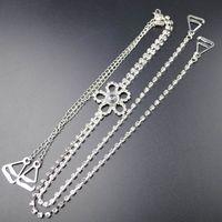 Wholesale Bra Metal Accessories - New Fashion Free Shipping Rhinestone Crystal wedding bridal jewelry bridal crystal bra metal Crystal Strap Accessory