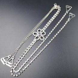 Wholesale Clear Body Jewelry - New Fashion Free Shipping Rhinestone Crystal wedding bridal jewelry bridal crystal bra metal Crystal Strap Accessory