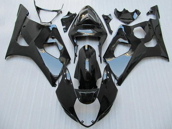Envío gratis Kit de carenado negro brillante para 2003 2004 GSX-R1000 K3 Kit de carrocería nuevo GSXR1000 GSXR 1000 03 04