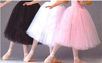 Wholesale Dance Ballet Long Tutus - Hotsell Plus size adult long tutu skirt teen dance party ballet skirt to women free shipping
