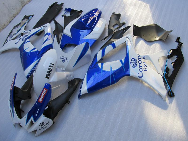 Gratis Anpassad Motorcykel Fairing Kit för 2006 2007 GSXR 600 750 K6 OEM Injektionsfeor GSXR600 GSXR750 06 07 R600 R750