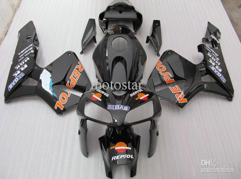 black REPSOL Injection mold ABS Fairings for HONDA CBR600RR 2005 2006 CBR 600RR CBR600 F5 05 06